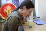 Reunion London Oct 2011 - Kat drinking bubble tea